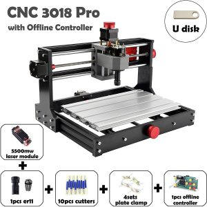 Mostics CNC 3018 Pro with 5.5W laser module